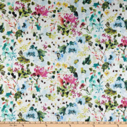 Windham Field Day Blooms Lawn White Fabric