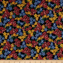 Windham Pemberley Flannel Small Floral Black