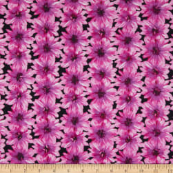 Benartex Blooming Beauty Blooming Flowers Black/Violet