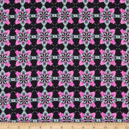 Kanvas Blooming Beauty Majestic Medallions Black/Violet