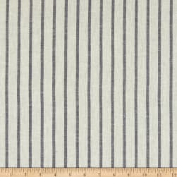 Yarn Dye Stripe Linen Blend Navy/White