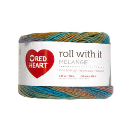 Red Heart Roll with it Melange Paparazzi