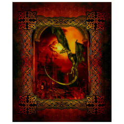 In The Beginning Digital Dragons Large Castle 36'' Panel Multi Fabric
