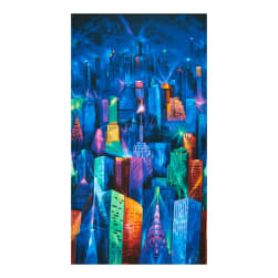 "Timeless Treasures Nightlife 24"" Panel Electric Skyline"