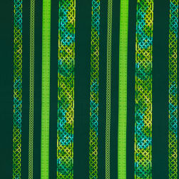 Henry Glass Irish Folk Celtic Border Stripe Emerald