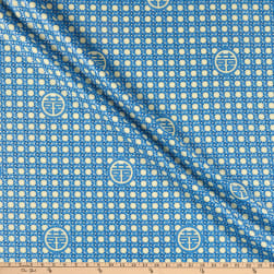 The Textile Pantry Summer Palace Metallic Wicker Blue