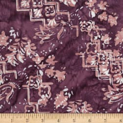 Banyan Batiks Intaglio Stepped Etchings Purple Sorbet