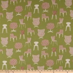 Kaufman Sevenberry Canvas Chairs Green Fabric