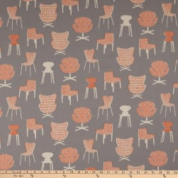 Kaufman Sevenberry Canvas Chairs Grey Fabric
