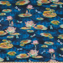 Kaufman Wild Magic Water Lilies Wild