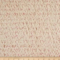 Shannon Minky Luxe Cuddle Frosted Rose Hot Pink/Natural