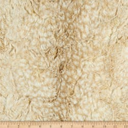 Shannon Minky Luxe Cuddle Cheetah Beige Fabric