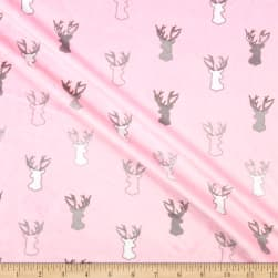 Shannon Studio Minky Cuddle Antlers Blush