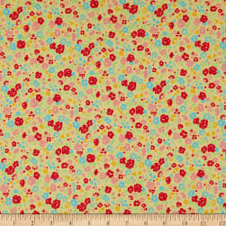 Lecien Antique Flower Pastel Floral Toss Swiss Cheese Fabric