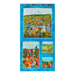 Maywood Studio Quiltlandia Quiltlandia  24'' Panel Blue Fabric