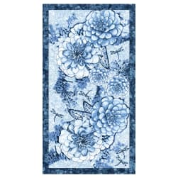 Once In A Blue Mood 24'' Panel Medium Blue Fabric