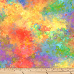 P&B Textiles Digital Silly Siberians Color Wash Multi