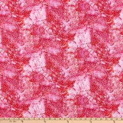 P&B Textiles Digital Wild Birds Texture Pink Fabric