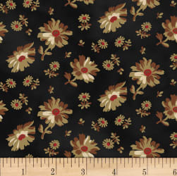 Washington Street Studio Wild Flower Tossed Floral Black
