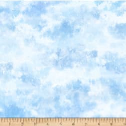 P&B Textiles Pastoral Song Clouds Blue Fabric