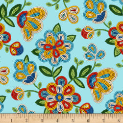 Tucson Beaded Floral Light Turquoise