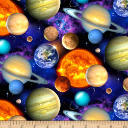 In Space Packed Planets Black