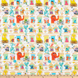 EXCLUSIVE Sesame Street Digital Characters in Windows White Fabric