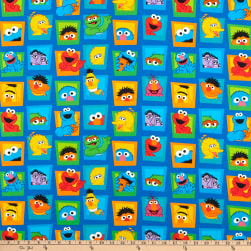 EXCLUSIVE Sesame Street Digital Character Faces Blue