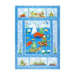 Susybee Paul Paddling 36'' Panel Blue Fabric