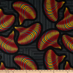 Shawn Pahwa African Print Lunga Black/Orange Fabric