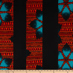 Shawn Pahwa African Print Gwembeshe Black/Orange Fabric