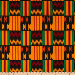 Shawn Pahwa African Print Gwedi Orange/Black Fabric