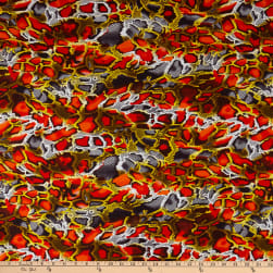 Shawn Pahwa African Print Kufika Orange/Black Fabric