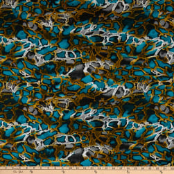 Shawn Pahwa African Print Kufika Blue/Black Fabric