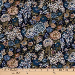 Liberty Fabrics Silk Crepe de Chine Elysian Day