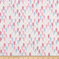 QT Fabrics Flamingo Fantastico Feathers White