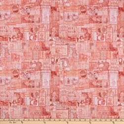 QT Fabrics Tailor Made Vintage Patches Coral Fabric