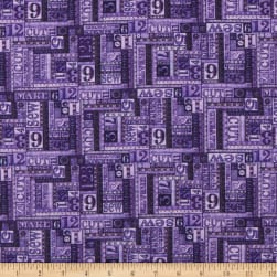 QT Fabrics Tailor Made Numbers Patch Purple