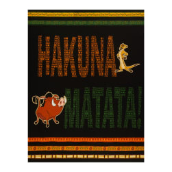 The Lion King Hakuna Matata 36'' Panel in Multi Fabric