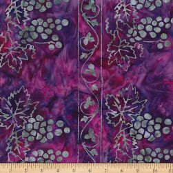 Banyan Batiks Vino Border Print Grape Juice