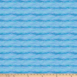 Northcott Shiver Me Whiskers Waves Blue Fabric