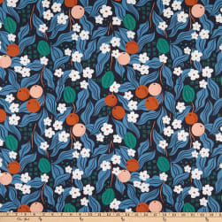 FIGO A Life In Pattern Fruit Floral Navy Fabric