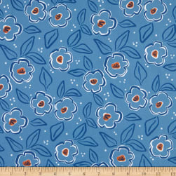 FIGO A Life In Pattern Floral Blue Fabric