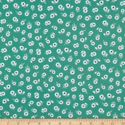 FIGO A Life In Pattern Ditsy Floral Green Fabric