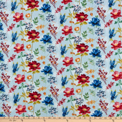 Wilmington Garden Charm Large Floral Blue Fabric
