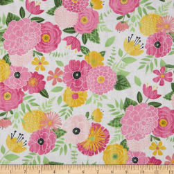 Wilmington Keep Shining Bright Packed Florals Light Grey