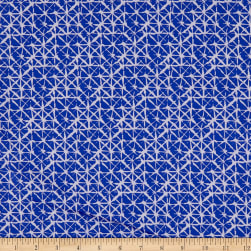 3 Wishes Basics II Lattice Blue Fabric