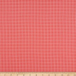 Windham My Cup Of Tea Playful Plaid Hibiscus Fabric