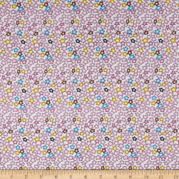 Bella Twill Prints Pink Stars