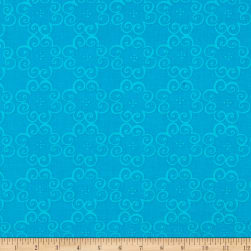 Kanvas Social Butterfly Flower Scroll Teal